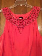 Women's Veste Silk Dress Size 20W Melon Orange NWT