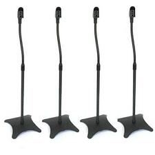 Speaker Stands Home Cinema Surround Sound 4x Steel Adjustable Black Hidden Cable