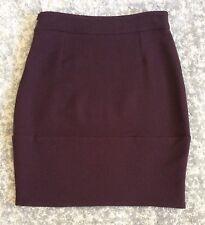 Marni Plum Balloon Shaped Wool Skirt, Italian Size 42, UK 10-12, New With Tags