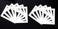 Packs of 10 White Picture Mounts, Black Picture Mounts, Cream Picture Mounts.