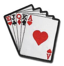 Royal Flash Flush Poker Biker Playa Las Vegas Kartenspiel Aufnäher Patch Sticker