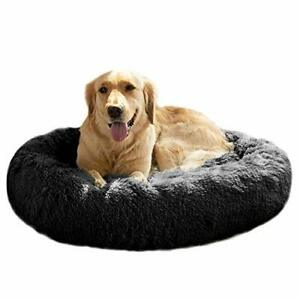 MFOX Calming Dog Bed XL for Medium and Large Dogs Pet Bed Donut Cuddler Up to...