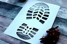 Santa Foot Print Template Stencil Shoes Father Christmas