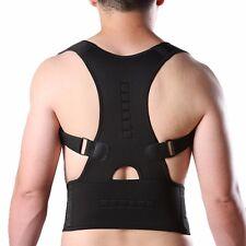 US Posture Corrector Support Magnetic Back Shoulder Brace Belt For Men Women AM