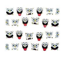 Sponge Bob 3d Nail Art Sticker Calcomanía decoración Manicura de transferencia de agua