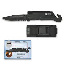 Navaja K25 Pedernal Linterna Acero Inox Titanium Hoja 8,8 cm + Afilador, Knives