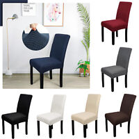 Dining Chair Seat Covers Slip Stretch Removable Protective Wedding Banquet Party