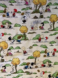 "53""L x44"" Snoopy Charlie Brown Peanuts Cotton Football Fall Concord Fabrics 2001"