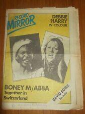 RECORD MIRROR FEBRUARY 24 1979 DEBBIE HARRY BONEY M ABBA DAVID BOWIE DAVID ESSEX