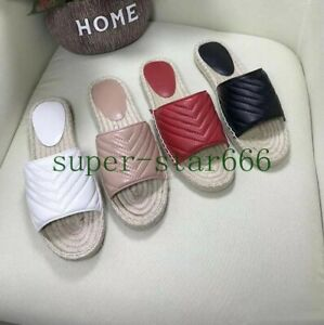 Women's Genuine Leather Casual Slippers Fisherman Open Toe Shoes Black Summer
