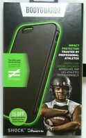 BodyGuardz Shock Black Case for iPhone 6/6s, great for Athletes or Active Sport