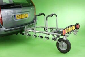 RARE - Mottez Bike Trailer / Rack - Holds 5 Bikes w/ Tow Bar Lock & Wheel Clamp