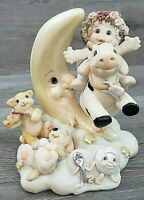 "Dreamsicles ""Hey Diddle Diddle"" #10373 Cherub on Cow Figurine 1997 Moon FREE SHI"