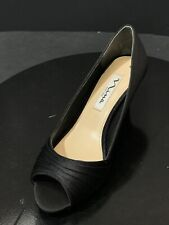 New Nina Carolyn Black Color Peep Toe Heel Women's Shoes Size Us 5.5 M Rtl $85