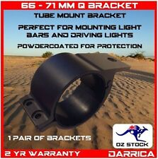 "66 - 71mm (2.5"") Pair Aluminium Mounting Brackets Light Bar Driving Lights UHF"