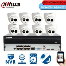 Dahua 8Ch Hd Nvr Cctv System 4Mp Ipc-Hdw4433C-A Built-In Mic H.265 Ir Ip Camera