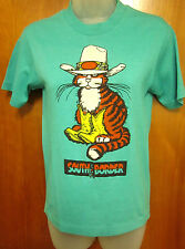 MOREY BOOGIE BOARD vtg Bodywear youth lrg South of Border surf T shirt 1980s cat