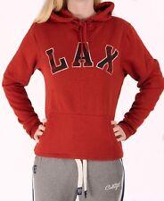 Ladies Hoody Hoodie Jumper Top Sweater Burnt Orange Lacrosse New Ex Store
