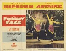 """FUNNY FACE""-ORIGINAL LOBBY CARD-AUDREY HEPBURN-DANCING"