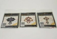 Lot of 3 Mill Hill Counted Glass Beads Art Deco Pin Kits