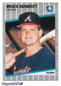 ⚾️ 1989 ~ Fleer #587 ~ Bruce Benedict ~ Braves ~ NmMt=8