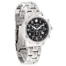 Wenger GST Mens Black Dial Swiss Chronograph Quartz Watch 78256