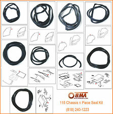 MERCEDES W116 CHASSIS SEAL KIT SWB DOORS WINDSHIELDS TRUNK SUNROOF SEAL KIT 9PCS