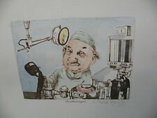 """Art print Charles Bragg Color Lithograph """"Anesthesiologist"""" md Hand Signed"""