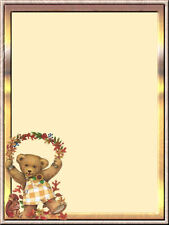 Autumn Teddy Bear Stationery Printer Paper 26 Sheets