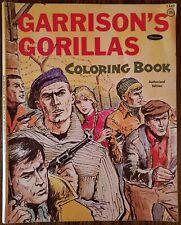 GARRISON'S GORILLAS COLORING BOOK ~ VF 1968 VINTAGE WHITMAN ~ UNCOLORED