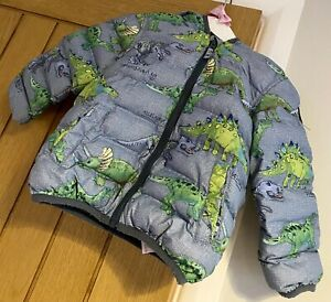 Next Boy Gorgeous Dinosaur Winter Padded Hooded Coat Jacket 18-24 Months 🦖🦕