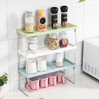 Kitchen Standing Rack Bathroom Countertop Storage Organizer Shelf Holder Rack US