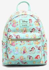 Disney Loungefly Princess Chibi Ariel Belle Jasmine Mulan Mini Backpack Bag