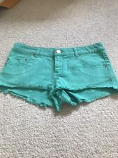 MOTO By Topshop Size W28 Green Hot pants With Frayed  Edges