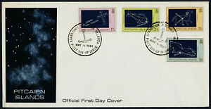 Pitcairn Islands 244-7 on FDC - Space, Constellations