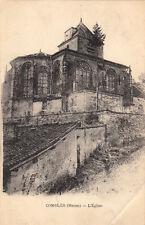 COMBLES l'église écrite 1916