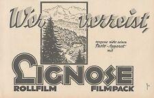 Y4942 Rollfilm und Filmpack LIGNOSE - Pubblicità d'epoca - 1927 Old advertising