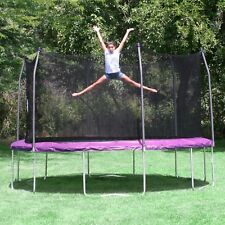 14' Round Trampoline with Safety Net Enclosure Skywalker Purple Outdoor Play