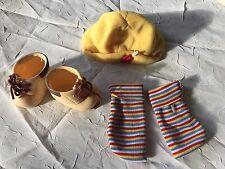 "Vintage 1994 Citi Toy 12"" Plush Body Baby Doll Clothing Shoes Socks M Beanie Hat"