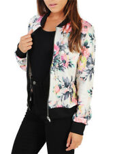 Stylish Floral Flimsy Women Jacket For Autumn - White
