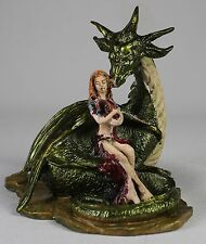 SPRING DRAGON PEWTER FIGURE Rob Carlos Fantasy Art NEW Hand Painted Sculpture
