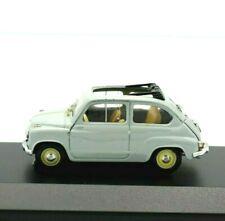 Miniature voiture Fiat 600 Cabriolet Échelle 1/43 diecast Modèle Static Brumm