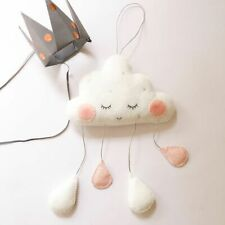 Nordic Wall Hanging Cloud Water Drop Felt Ornament Baby Nursery Room Decor Gift