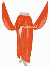 TMS Multi 4 Petal Skirt Belly Dance Penal Gypsy Costume Tribal Jupe Robe Boho