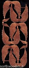 WINGS ANGEL COPPER SWAN ASSORTMENT DOLL ART GERMAN LARGE EMBOSSED SCRAP DRESDEN