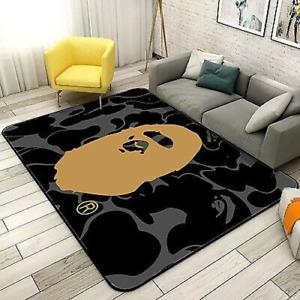 @BAPE/Bathing APE Door Rug Carpet Floor Mat Bedroom Anti-Slip Living Room /Home#