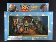 DISNEY THINKWAY TOYS TOY STORY BENDABLE FIGURES SET WOODY BUZZ LIGHTYEAR REX