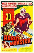 "Robot Monster  Movie Poster  Replica 13x19"" Photo Print"
