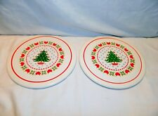 2 1984 CHD VINTAGE ROUND CHRISTMAS TRIVETS TREE AND HEART