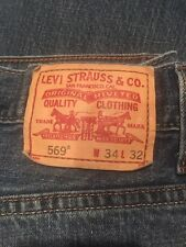 Men's Levi's 569 Jeans size 34 x 32 Pre-owned Loose Straight Leg Denim
